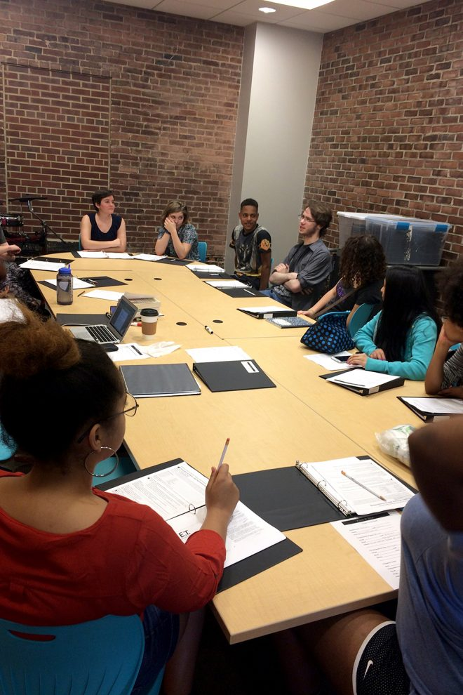 Baltimore School for the Arts students studying together