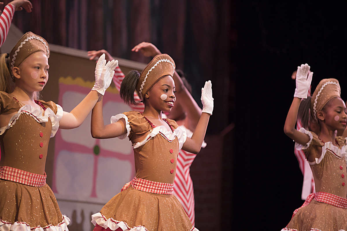 Photograph of student dancers performing
