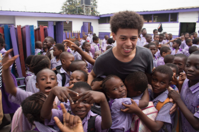 Image of a Students from Baltimore School for the Arts in Ghana