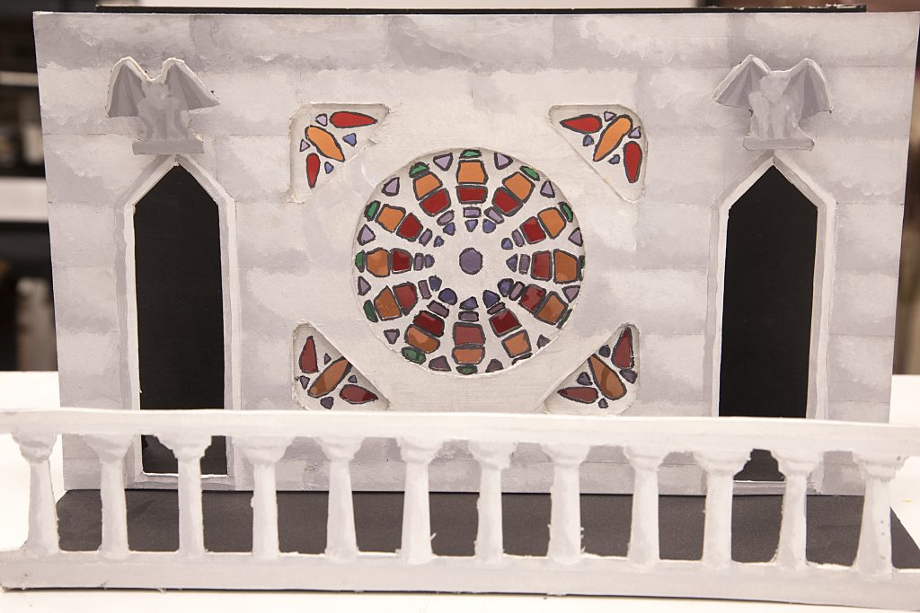 Photograph of stage design concept art