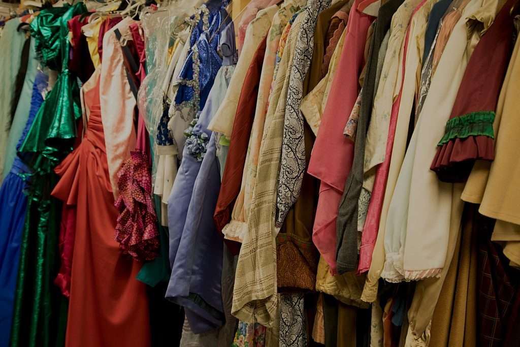 Photograph of Baltimore School for the Arts theatre costumes