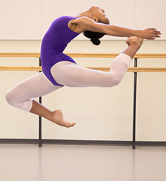 Photograph of Baltimore School for the Arts ballet student
