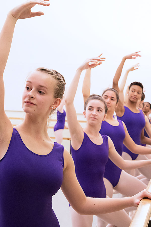 Photograph of Baltimore School for the Arts ballet students