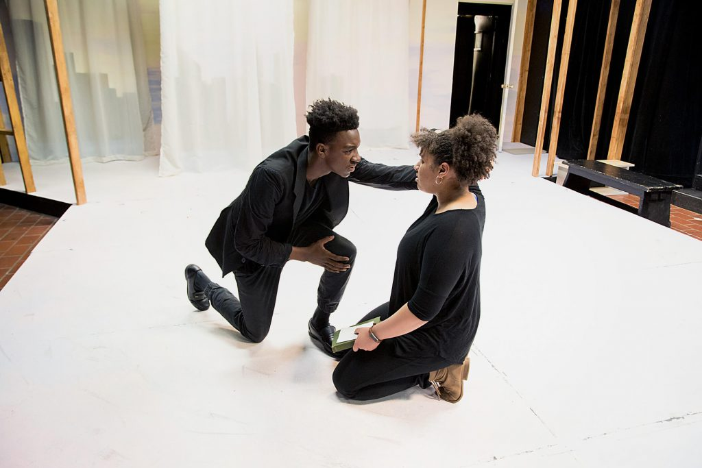 Image of Baltimore School for the Arts students rehearsing for a production