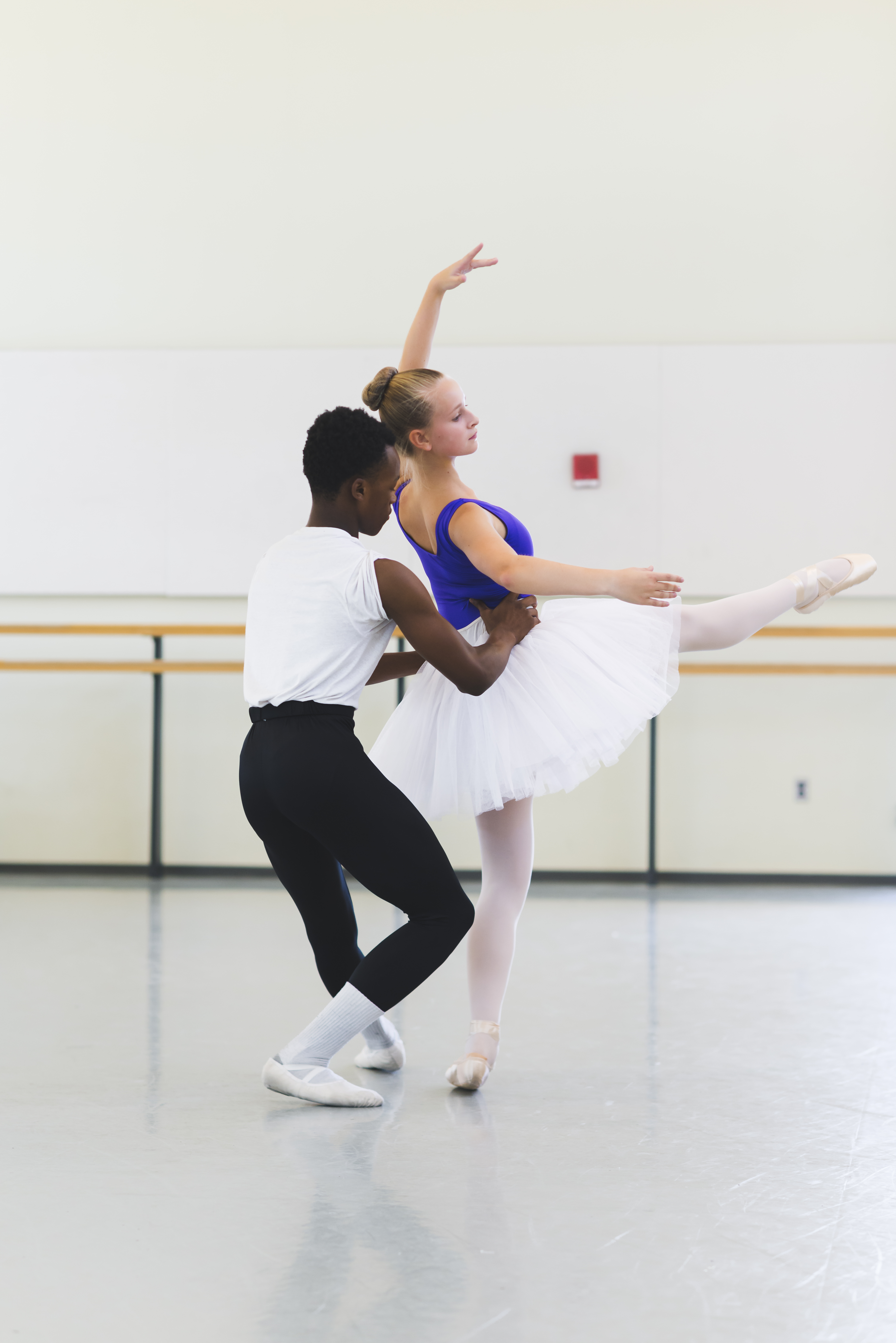 Photograph of ballet students at Baltimore School for the Arts