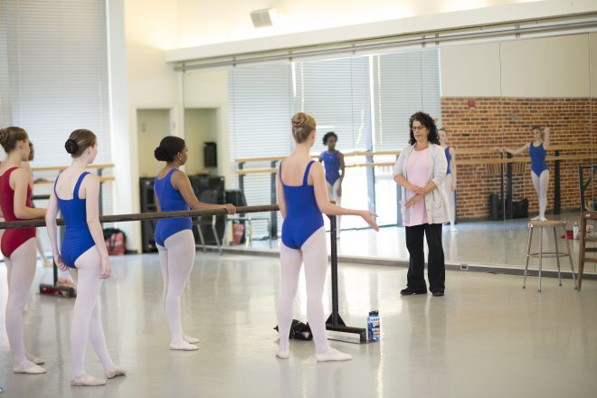 Image of Baltimore School for the Arts learning how to dance