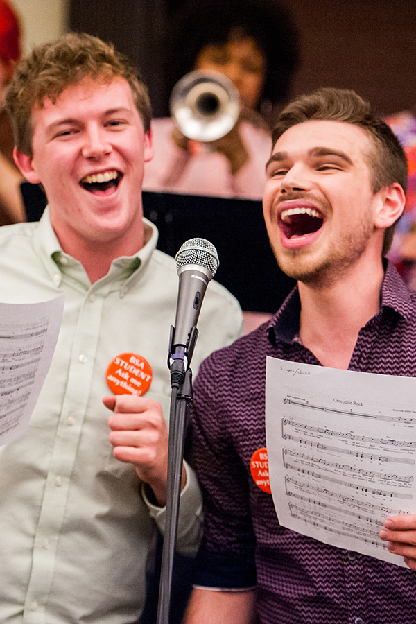 Photograph of Baltimore School for the Arts students singing