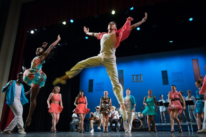 Image of Baltimore School for the Arts students dancing