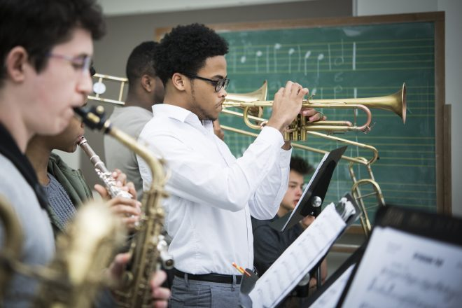 Image of Baltimore School for the Arts students playing instruments