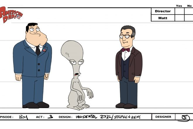 Illustrations of Stephen Kent from American Dad