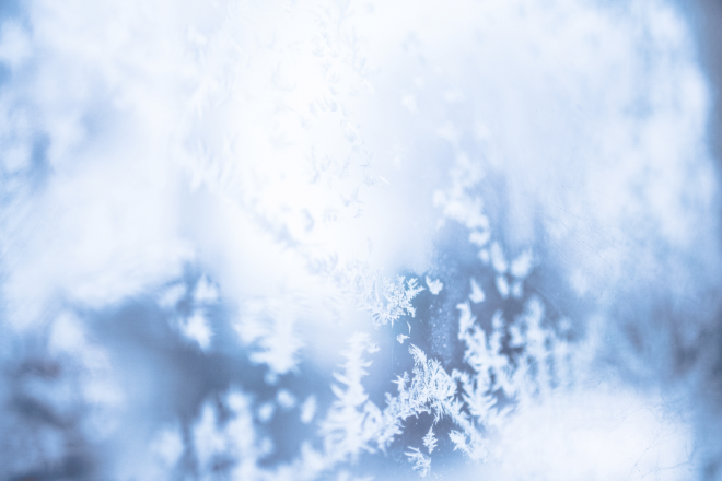 Photograph of frost on a window
