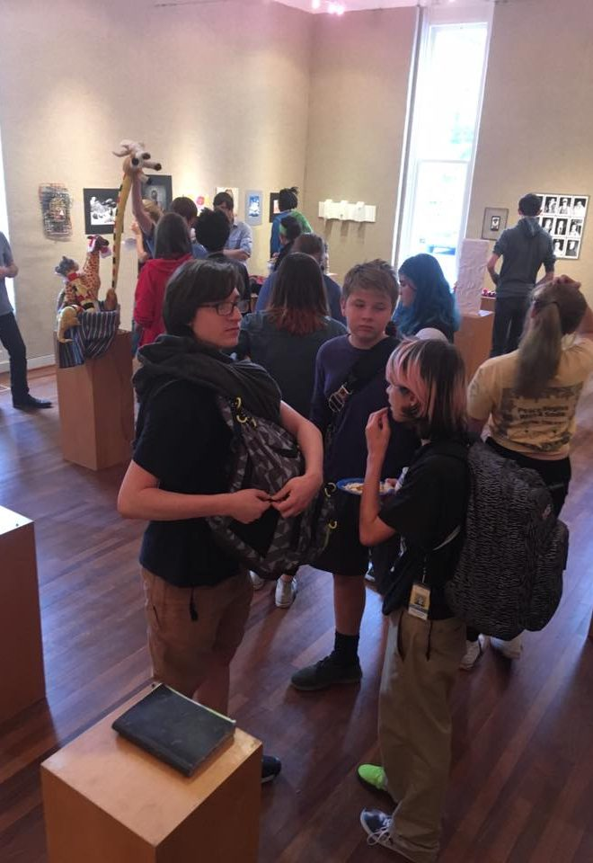 Image of Baltimore School for the Arts students talking to each other