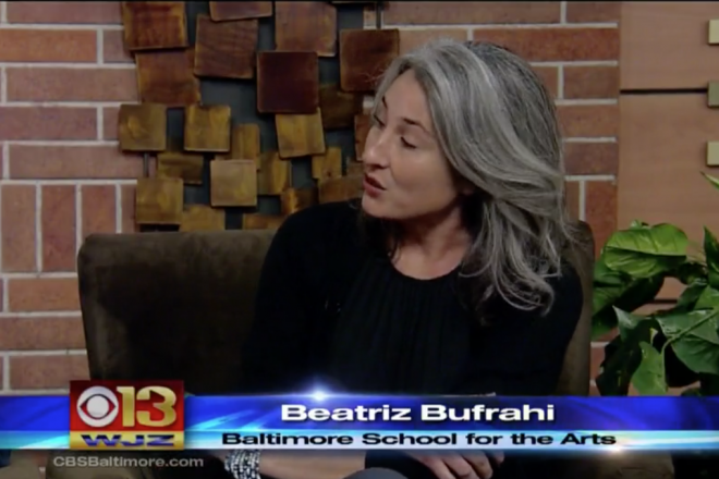 Image of Beatriz Bufrahi from Baltimore School for the Arts on TV
